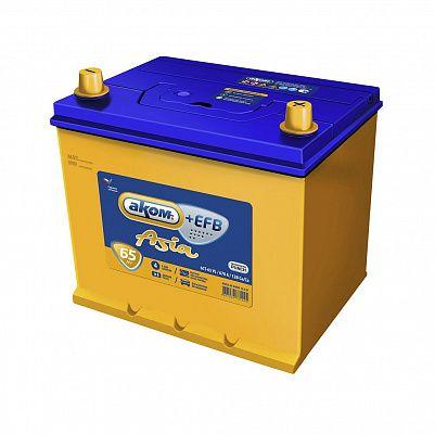 Автомобильный аккумулятор Аком Asia + EFB  75D23L 65.0 фото 401x401