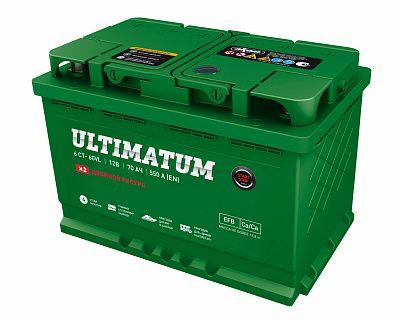Автомобильный аккумулятор Ultimatum EFB 70.1 фото 400x320