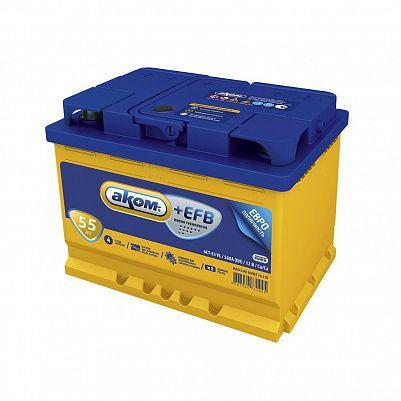 Автомобильный аккумулятор Аком + EFB 55.0 фото 401x401
